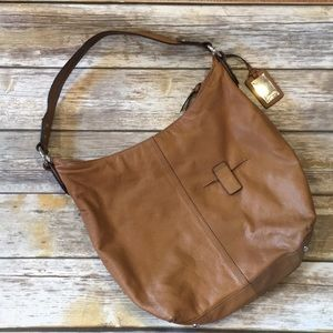 Beautiful soft real leather Tignanello hobo bag